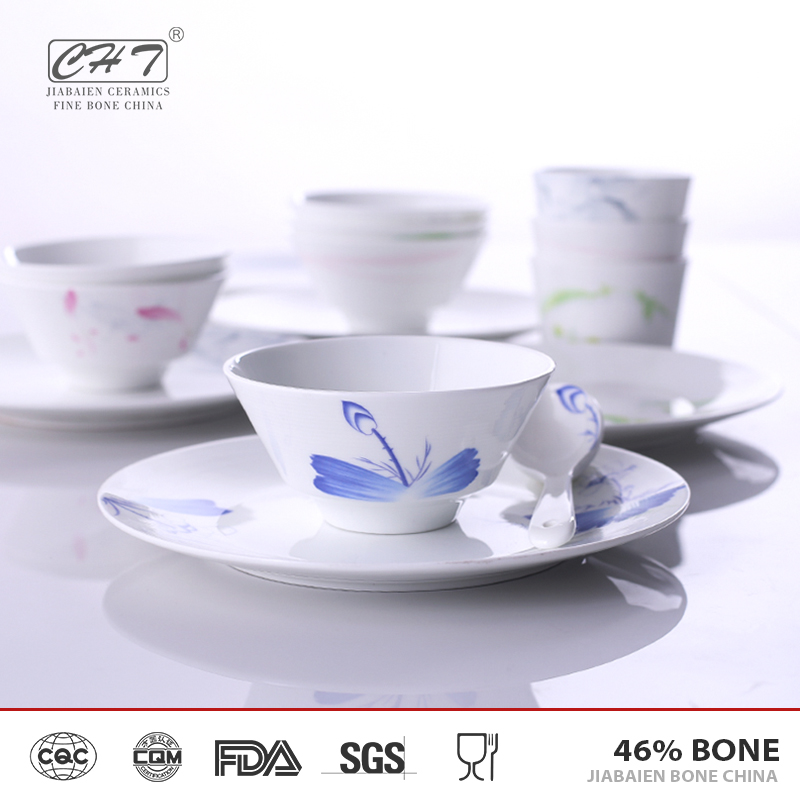 chinese dinner set bone china porcelain restaurant light weight dinner plates for sale