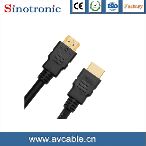 OEM High Speed 1M 1.5M Gold plated 1080P 2.0V HDMI To HDMI Cable