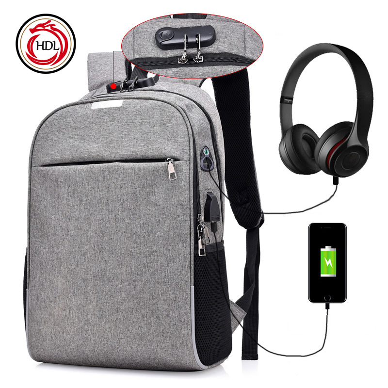 2018 Smart Designer Multifunction USB Charger Headset Laptop Backpack <strong>Bag</strong>