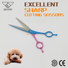 Japanese stainless steel Curved Pet Grooming scissors for dogs, cats, horse with titanium colors