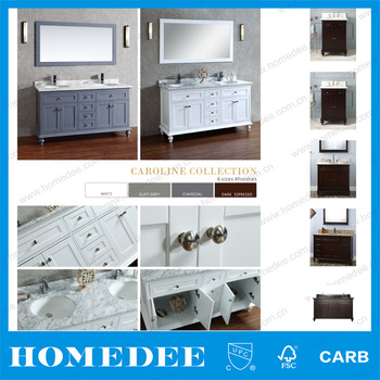 Country Style Irregular Shape Bathroom Vanities Cabinets In Hangzhou