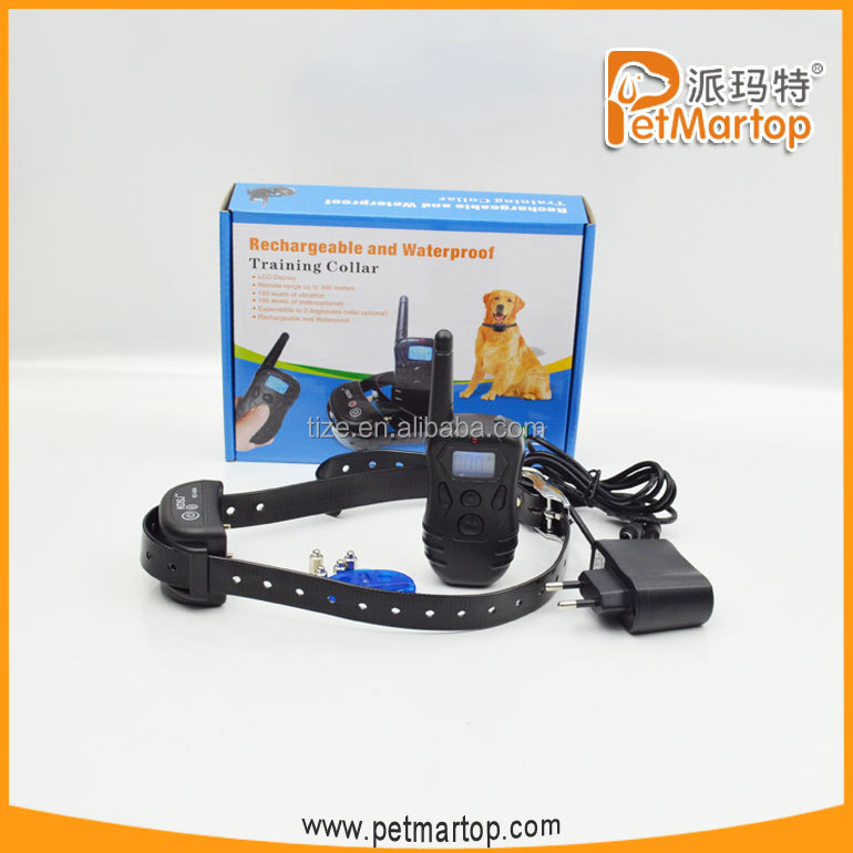 2016 new rechargeable and waterproof remote dog training collar TZ-KD668 advanced bark control collar