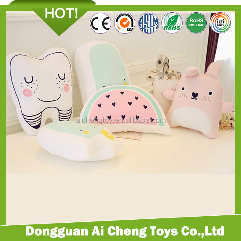 customize lovely cute soft plush pillow toys various shaped printting pillow