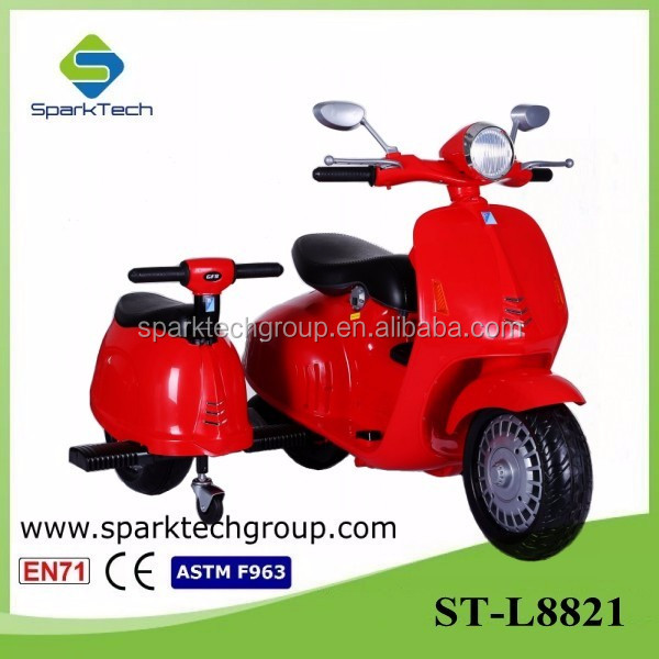 Newest Perfect Design Two Seats Motorcycle Toy, Electric Kids Motorcycle, 3 Wheel Toy Car ST-L8821