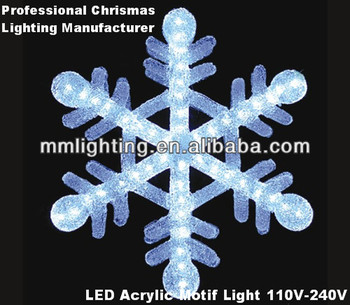 Lighted snowflake outdoor christmas decorations