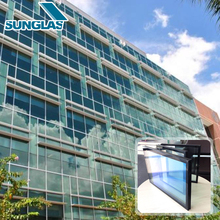 Alibaba China building thick slab heat-tempered low-e glass windows Reflective Coated Low-E Curtain Wall Structural Glass