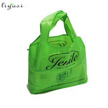 Polyester foldable bag folding shopping tote bag grocery bag