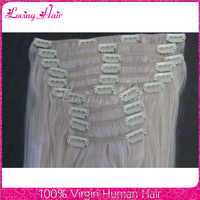 Human clip in hair extension straight wave virgin brazilian hair wholesale 100 human hair clip in extensions