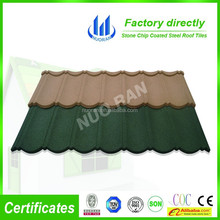 Color sand Aluminum Zinc stone coated metal roofing tiles