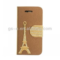 goophone i5s right open case for iphone5 leather case