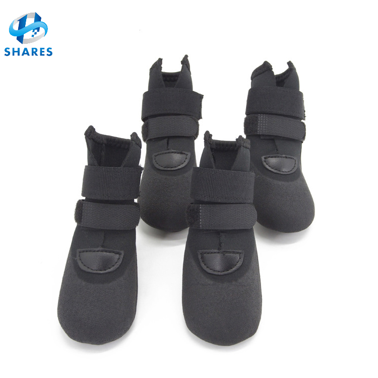 Fashion dog shoes skidproof soft waterproof shoes for dog boots warm walking soft non- slip rain shoes