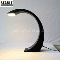 Fancy Design black color touch switch 4w dimmable led table lamp with pure white light color