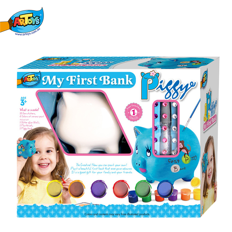Wholesale Art Paint Set Craft Piggy Savings Bank Toy For <strong>Kids</strong>
