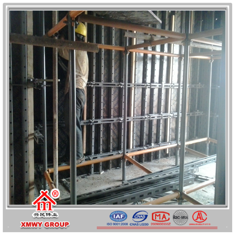 Shuttering Details For Wall : Wall concrete casting shuttering steel formwork system