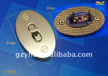 zinc alloy metal handbag Twist Lock,Handbag Metal Hardware Accessory of Guangzhou