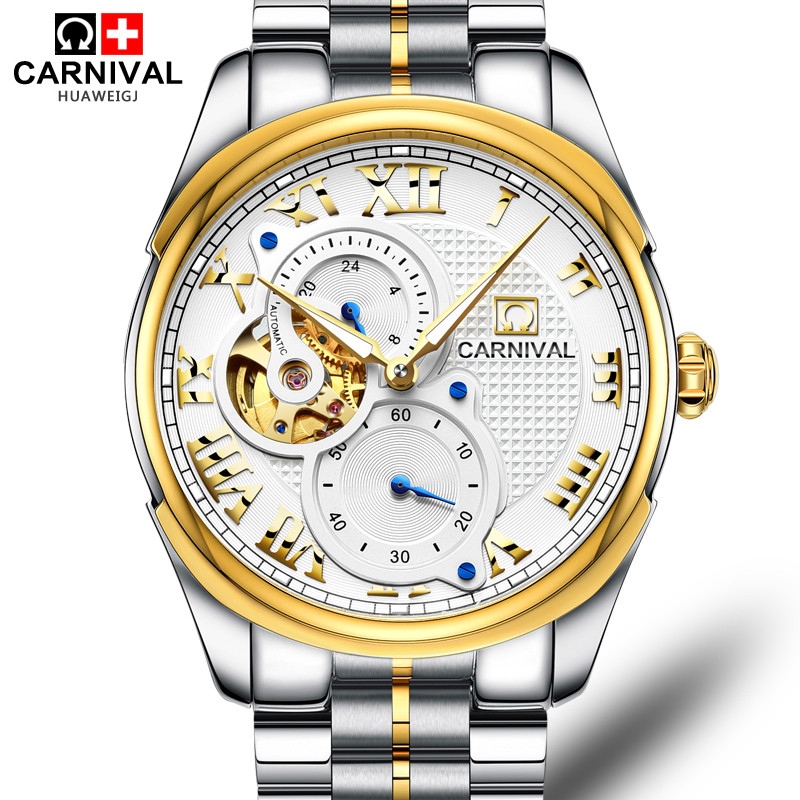 China Manufacturer Well-known Brand Carnival Wristwatch Factory 8718G Custom Logo Mechanical Automatic Self-wind Watch for <strong>Men</strong>