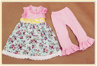 2-6y White Nova Kids Suits Cheap Wholesale Baby Clothing Set Girls Summer Sets