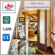 JHK-G01 Tempered PVC Glass Balcony Interior Door