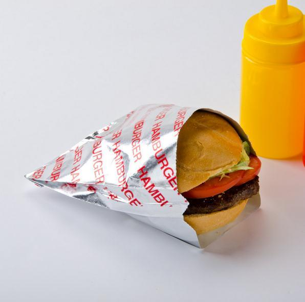 hamburger wrapping aluminum foil packing paper for food