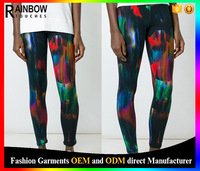2016 Wholesale Custom Sublimation Printed Tights Leggings For Women