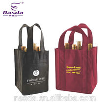 wholesale non woven wine bag,printed wine bag for 4/6 bottles,promotional non-woven wine bag with logo