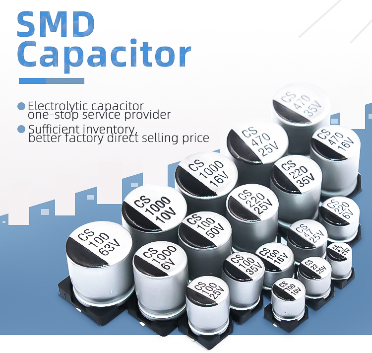 20% smd capacitor electrolytic