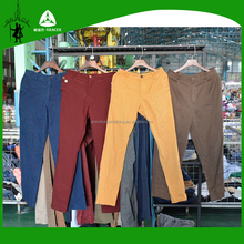 Bulk Wholesale From guangdong Germany style Export Clean Men Cotton Pants Used Clothing Buyers