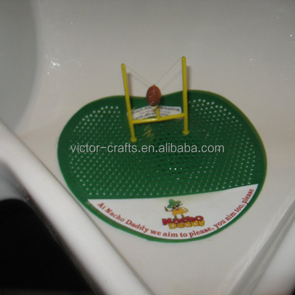 Victor Crafts manufacture wholesale football urinal screens for man toilet urinal screen with deodorant block for toilet