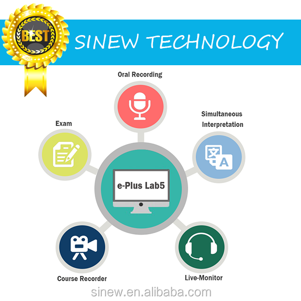 Digital Language Training System e-PLUS Lab5 for Oral recording