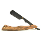 Gold Private label sandalwood and stainless steel barber straight shaving razor,barber razor straight
