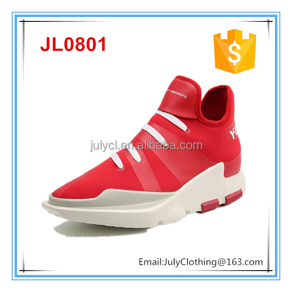 2017 New design fashion man sport platform shoes mid-cut platform shoes man mid top elevator shoe