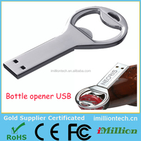 LOGO customized Gifts USB Flash Drives bottle opener thumb pendrive 4gb 8gb 16gb 32gb originality memory stick U disk wholesale