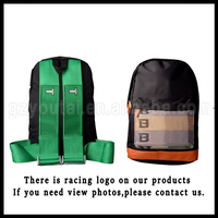 JDM Racing Backpack Large Capacity Harness Backpack Green Belt With Green Bottom Canvas Backpack