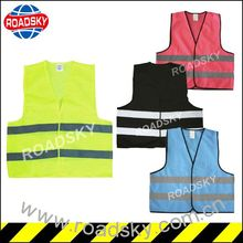 Waterproof Black High Visiblity Safety Vest For Roadway