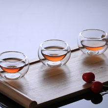 Hot Selling 20ml Double-wall Heat Resistant Glass Tea Cup