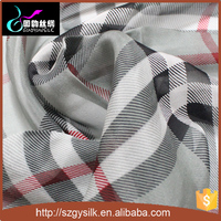 custom design printed silk chiffon fabric