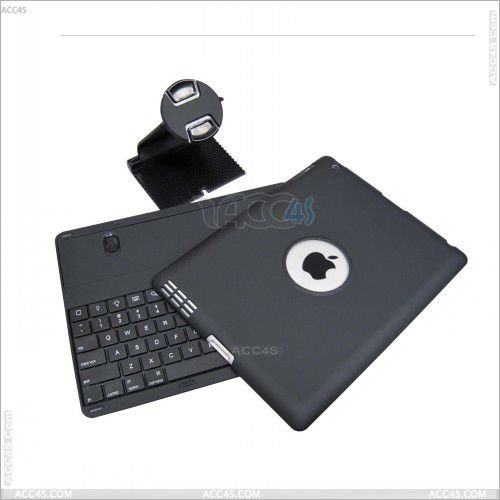 Detachable wireless Bluetooth Keyboard with stand Protector Case Cover for iPad 2/ 3 and ipad 4P-iPAD3PCBTHKB001