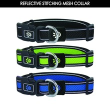 Dual Layer Air Mesh dog training Collar with Reflective Thread Middle Orange