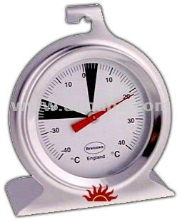 Premium Stainless Steel Dial Fridge or Freezer Thermometer