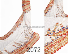 nigeria guipure lace multi color fabric 2015 fashion fabric