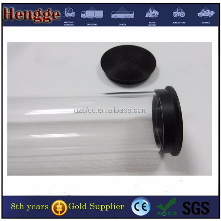 Transparent tube clear plastic cigar tube with end caps