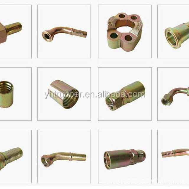 Hydraulic hose ferrule joint swivel fitting/coupling and jionts