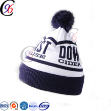 Chengxing string puffball crochet pattern fabric winter customized high quality fashion knitted beanie hat