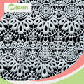 Lace dress design 100% milky polyester chemical lace fabric