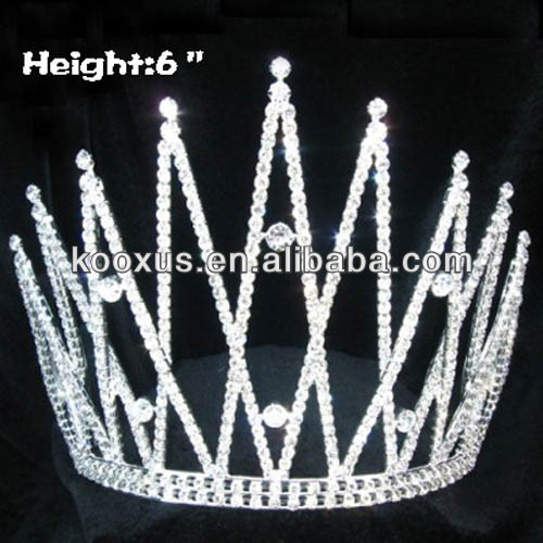 China Yiwu Cheap Crystal Pageant Crowns and tiaras