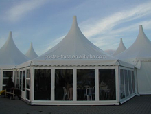 Luxury tent manufacturer wholesale 5x5m Pagoda tent with glass wall for events