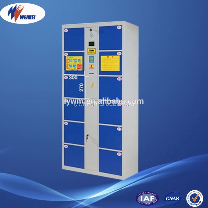 12 Door Steel Storage Locker Cabinet With Electronic Locks