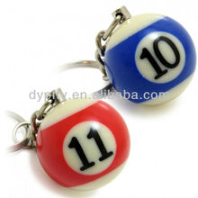 PVC ball keychain