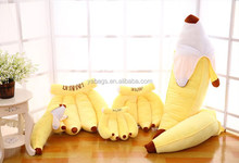 Home decor Banana shaped plush stuffed cotton fruit cushion YA-C63