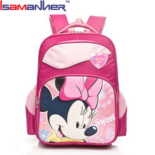 Isamanner low price school bags, cute girl minnie mouse bags for school